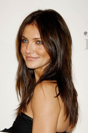 Highlights For Dark Brown Hair But the new dark long haircut makes her skin