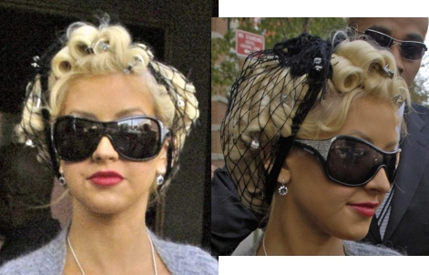 Hairstyles on Christina Aguilera  Even In Pin Curls  More Glamorous Than Britney