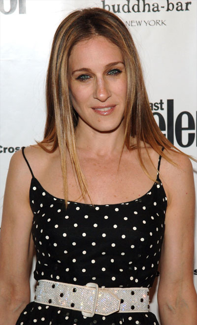 Because of Sarah Jessica Parker's naturally curly hair - this super straight